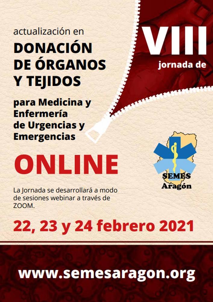 VIII Jornada de Actualización en Donación de Órganos y Tejidos para Medicina y Enfermería de Urgencias y Emergencias