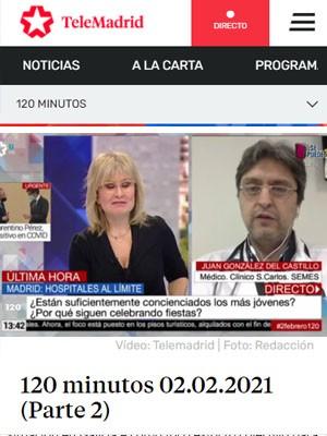 Juan González del Castillo en 120 Minutos (Min 32)