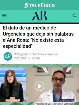"""El dato de un médico de Urgencias que deja sin palabras a Ana Rosa: """"No existe esta especialidad"""""""