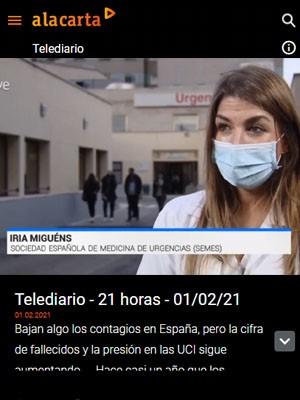 Iria Miguens en Telediario 21h (Min 15)