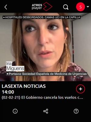 Iria Miguens en La Sexta Noticias (Min 9)