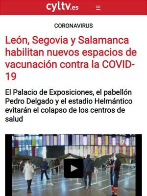 León, Segovia y Salamanca habilitan nuevos espacios de vacunación contra la COVID-19