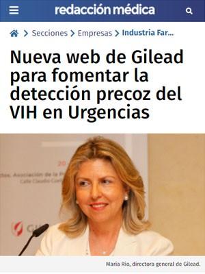 Nueva web de Gilead para fomentar la detección precoz del VIH en Urgencias