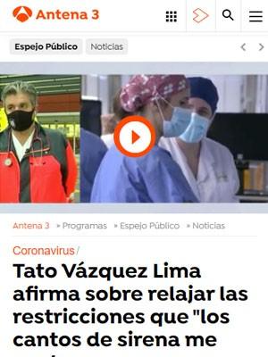 """Tato Vázquez Lima afirma sobre relajar las restricciones que """"los cantos de sirena me gustan pero para unas conversaciones distendidas"""""""