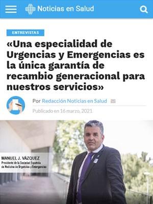 «Una especialidad de Urgencias y Emergencias es la única garantía de recambio generacional para nuestros servicios»