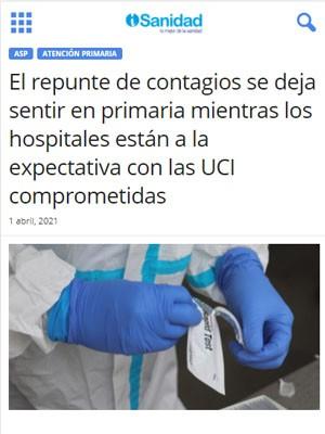 El repunte de contagios se deja sentir en primaria mientras los hospitales están a la expectativa con las UCI comprometidas