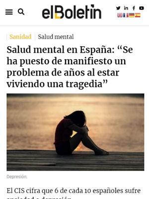 """Salud mental en España: """"Se ha puesto de manifiesto un problema de años al estar viviendo una tragedia"""""""
