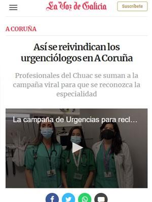 Así se reivindican los urgenciólogos en A Coruña