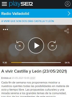 José Ramón Casal en A vivir Castilla y León (Min 11:30)