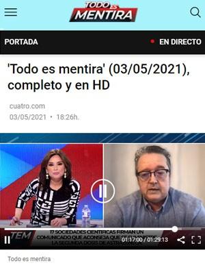 Pascual Piñera Salmerón en Todo es Mentira (Min 72)