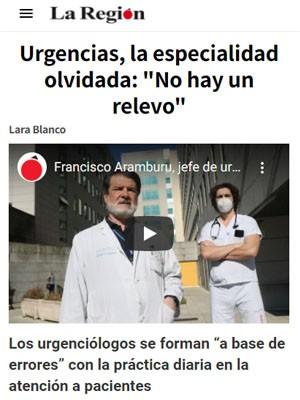 """Urgencias, la especialidad olvidada. Francisco Aramburu: """"No hay un relevo"""""""