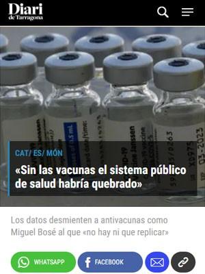 «Sin las vacunas el sistema público de salud habría quebrado»