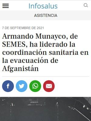 Armando Munayco, de SEMES, ha liderado la coordinación sanitaria en la evacuación de Afganistán